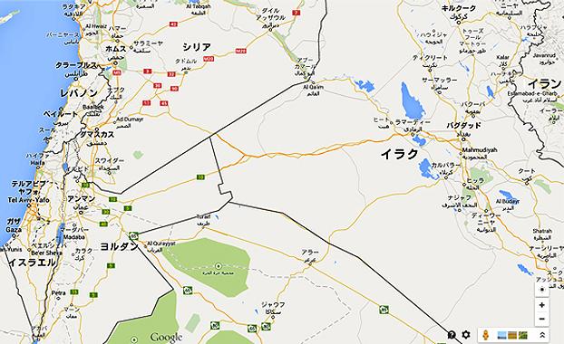 イスラエル周辺の地図